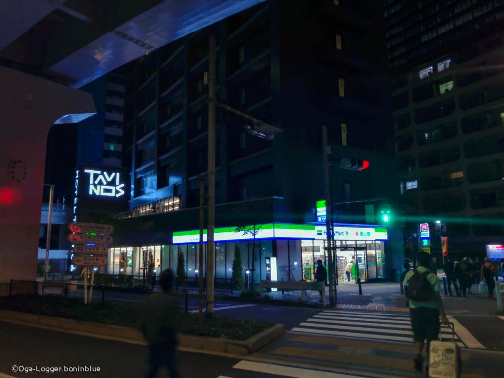 竹芝客船ターミナル側から観た交差点