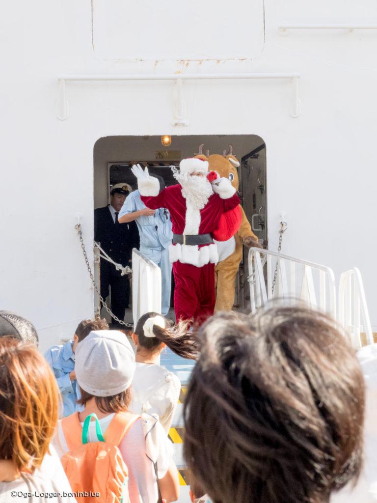 サンタさんとトナカイの下船