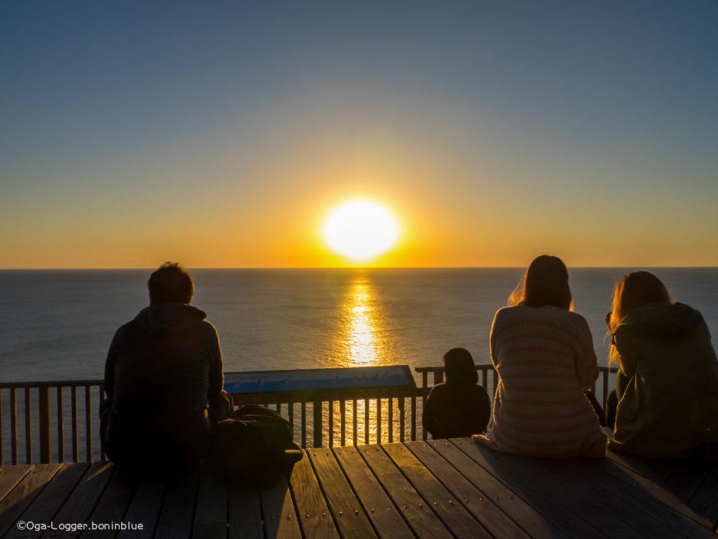 ウェザーからの眺め、陽が沈む時間